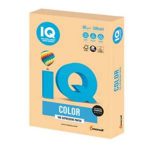 Бумага офиcная 500л./пач IQ color, А4, 80 г/м2, тренд, золотистая, GO22